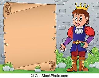 parchemin, 7, thème, prince