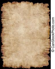 Parchment 5 - Old torn list of parchment, antique background...
