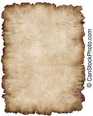 Parchment 6 - Old torn list of parchment, antique background...