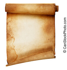 Parchment - Ancient scroll isolated over a white background