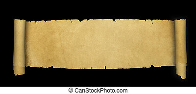 parchment., antiga, scroll
