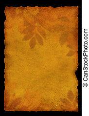 Parchment - Autumn background - old, fragmentary parchment