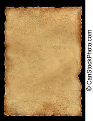 Parchment - Background - a piece of old, fragmentary...