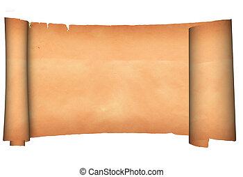 parchment., boekrol