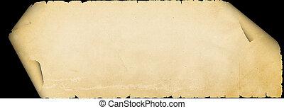 parchment., gescheurd