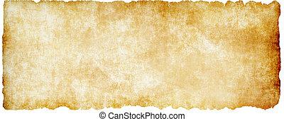 parchment., gescheurd, oud