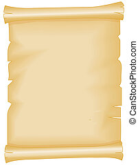 Illustration of a yellowed parchment