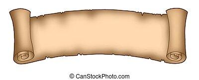Parchment long 1 - Color illustration of long parchment.