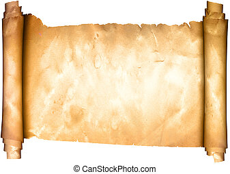 parchment., medieval, scroll