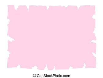 Parchment old paper banner pink