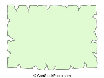 Parchment old paper Empty cartoon banner green