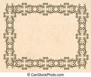 Parchment ornamental border