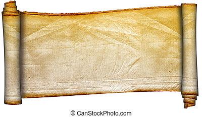parchment., oud, boekrol