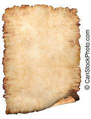 Parchment paper background - Old rough antique vertical...