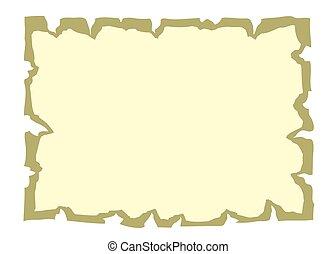 Parchment paper cartoon banner