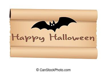 Parchment Paper Halloween Banner