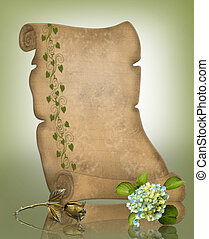 Parchment Paper scroll background - Image and illustration...