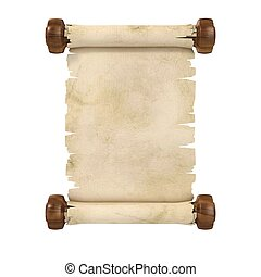 parchment scroll 3d illustration is