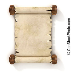 parchment scroll 3d illustration