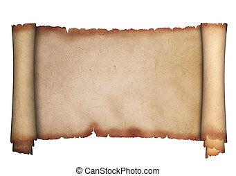 parchment., scroll