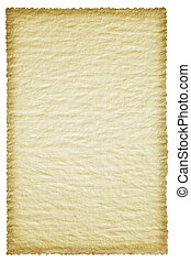 Parchment Sheet Isolated on White