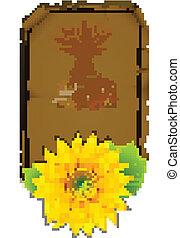 parchment sunflowers
