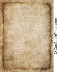 Old list of parchment, antique background texture of a page from an ancient book or a letter