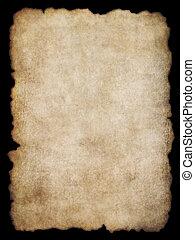 Parchment texture 4 - Old torn list of parchment, antique...