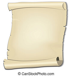 Vector parchment on white background