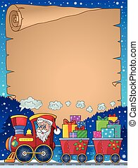 Parchment with Christmas train theme 2