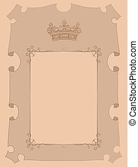 parchment with crown