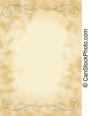 Parchment with decoration