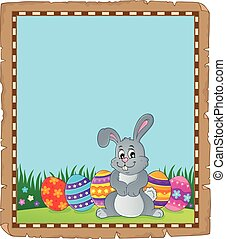 Parchment with Easter bunny topic 4