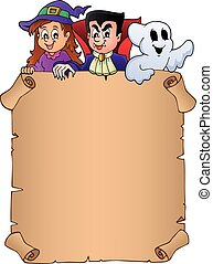 Parchment with Halloween topic 8