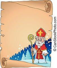 Parchment with Sinterklaas theme 1
