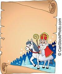 Parchment with Sinterklaas theme 2