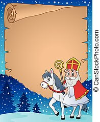 Parchment with Sinterklaas theme 3