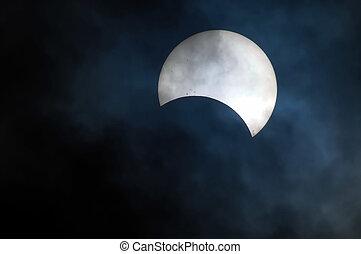 parcial, eclipse, solar
