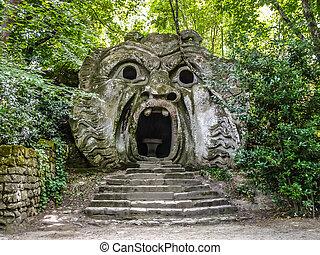 Parco dei Mostri in Bomarzo, province of Viterbo, Lazio, Italy