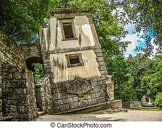 Parco dei Mostri (Park of the Monsters) in Bomarzo, province of Viterbo, Lazio, Italy