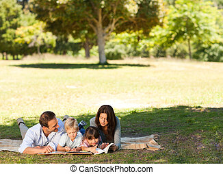parco, famiglia, insieme