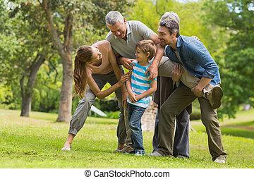 parco, gioco, famiglia