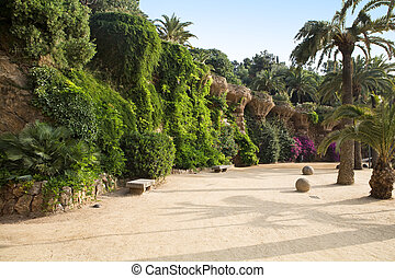 parco, guell, in, barcellona