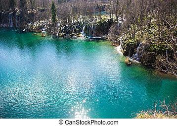 parco nazionale, plitvice, in, croazia