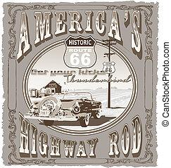 parcours, autoroute, 66