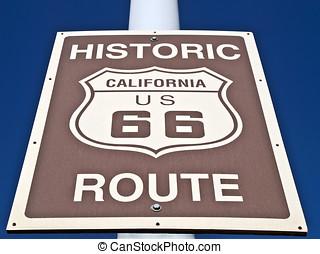 parcours, historique, rue, 66, signe