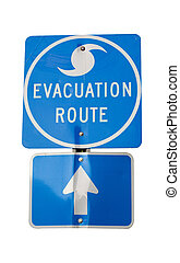parcours, ouragan, évacuation