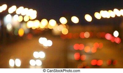 parcours, sans, foyer, nuit