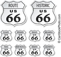 parcours, vecteur, noir, 66, blanc, autocollants