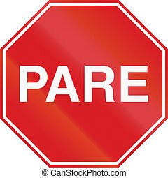 Pare Sign in Argentina